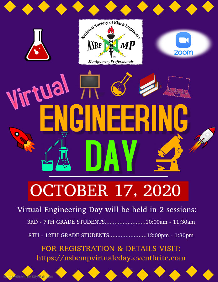 Engineering Day will be October 17, 2020.