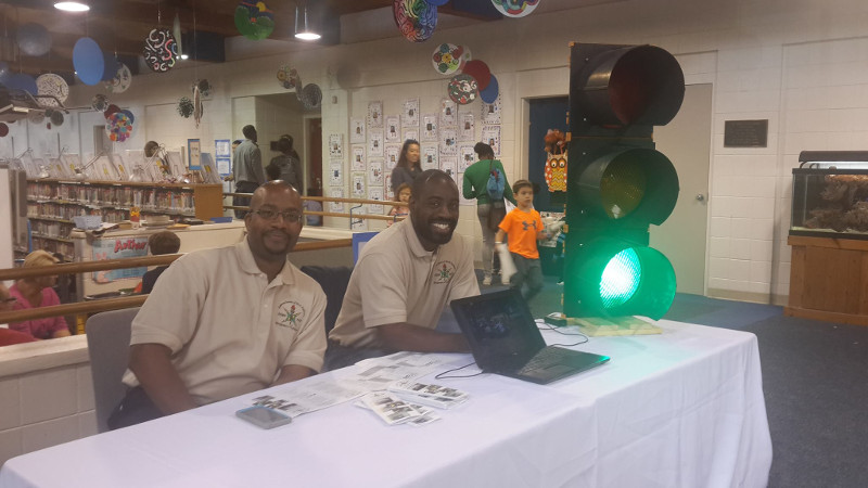 NSBE MP Members at STEAMFest at Montgomery Academy